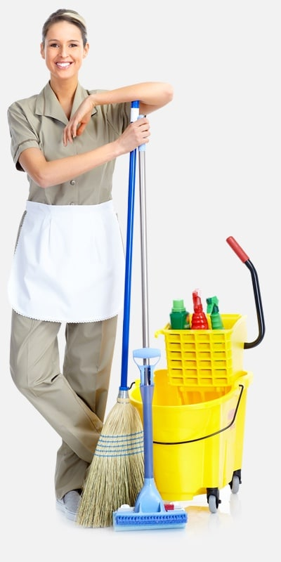 woman staff cleaning 1
